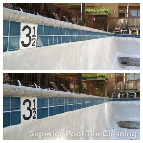 Commercial Pool Tile Cleaning
