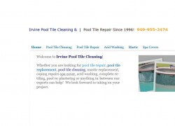 Irvine Pool Tile Cleaning