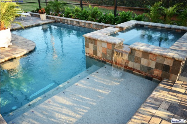 Pool design building in port charlotte fl by superior pools for Pool and spa show charlotte nc