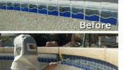 Pool Tile Cleaning, Tile Repair and Calcium Removal