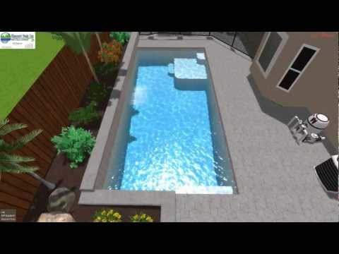 3D swimming pool design