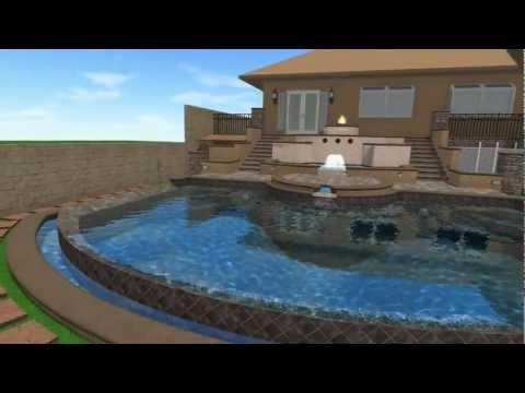 New Infinity Edge Pool, Spa & Reflecting Pools for Karen