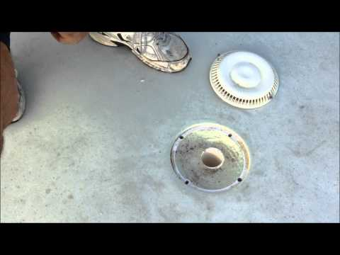 Swimming pool drain sump