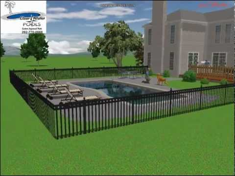 3D video of Custom Pool rendering/Carlson
