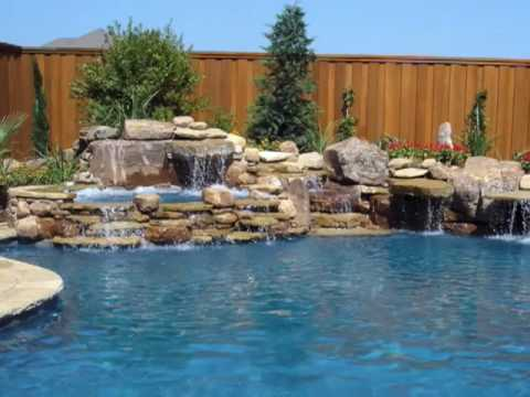 Swimming pool building in mckinney tx by natural stone pools for Stone swimming pool