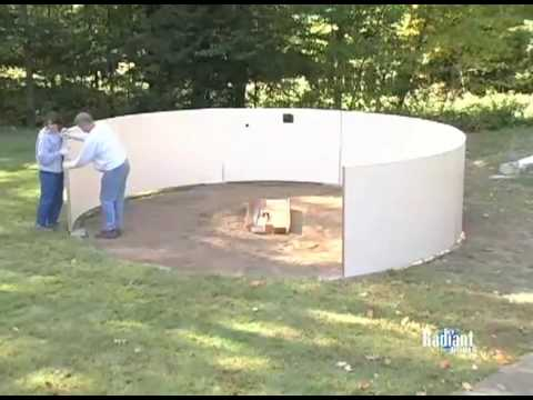 DIY Swimming Pool / Installing a Radiant Metric Pool
